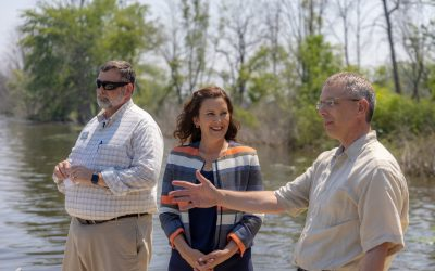 Governor Whitmer visits the Grand River Greenway
